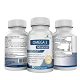 OMEGA 3 ADVANCED - 60 Premium Supplements with huge 1250mg serving of Omega 3 Fish Oil - containing Triple Strength super-high dosage of 960mg EPA and 720mg DHA per serving for Improved Immune System, Heart, Brain and Cardiovascular Functions. 100% GUARANTEE!