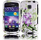 Samsung Galaxy Proclaim S720C Straight Talk Phone Case Accessory Remarkable Flower Hard Snap On Cover with Free Gift Aplus Pouch