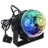 DJ light Sound Activated Party Lights Disco Ball - KINGSO Strobe Club lights Effect Magic Mini Led Stage Lights For Christmas Home KTV Xmas Wedding Show Pub - RGB 5W 7Color