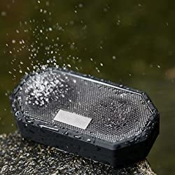 New Bee Portable Pocket IP65 Waterproof Shockproof Wireless Bluetooth 4.0 Speaker With MIC For iPhone Samsung(Black)