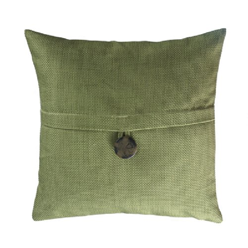 Loft Collection Bold Button Decorative Pillow Replacement Cover, Meadow front-239353