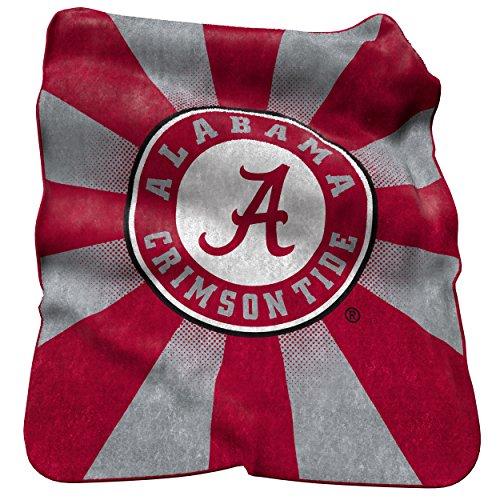 NCAA Alabama Crimson Tide Raschel Throw Blanket Alabama Fleece Throw