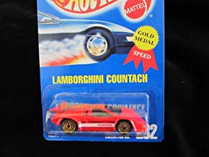hot wheels lamborghini countach 232 red with gold ultra hot wheels toys games. Black Bedroom Furniture Sets. Home Design Ideas