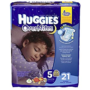 Huggies Overnites Diapers, Size 5, 21 Count