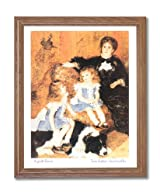 Renoir French Victorian Girl Dog Wall Home Decor Wall Picture Oak Framed Art Print