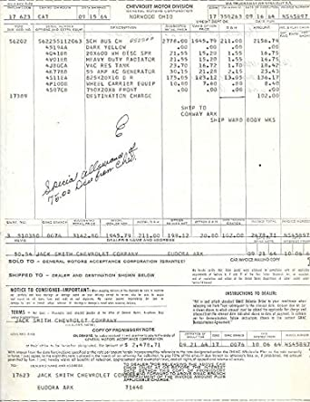 1964 chevrolet school bus factory to dealer invoice at for How to find factory invoice price