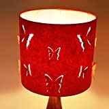 Craftter 3D BUTTERFLY Design RED PAPER Colour Table Lamp Shade (CPTLS-87)