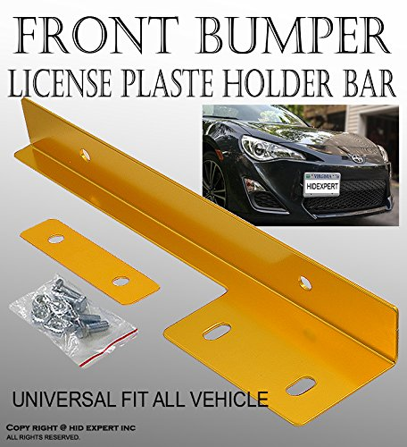 JDM Gold Aluminum Bumper Front License Plate Mount Relocate Bracket F#36 (Front Bumper Camaro 2014 compare prices)