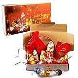 Lindt Christmas Premium Treat Box - Santa, Gold Bear, Reindeers, Lindor Melting Moment & Lindor Truffles -By Moreton Gifts