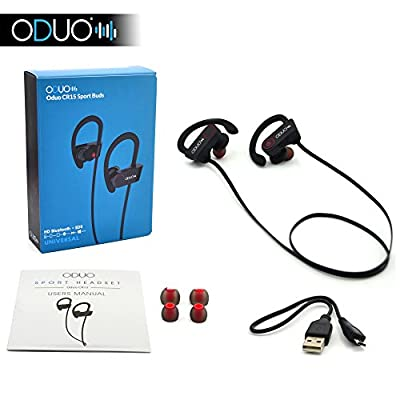 Bluetooth Headphones V4.1 Sports In-Ear Headphones Wireless Hands Free Earphones. Built-In Microphone. Wireless Earbuds. Premium Sound Quality Stereo Bluetooth Headset
