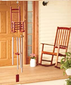 Amazon Com Rocking Chair Country Wind Chimes Patio
