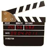 映画アクションボード LEDデジタルクロック