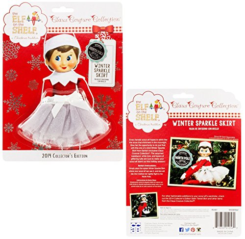 The Elf on the Shelf: A Christmas Tradition Claus Couture Collection Winter Sparkle Skirt Limited Edition