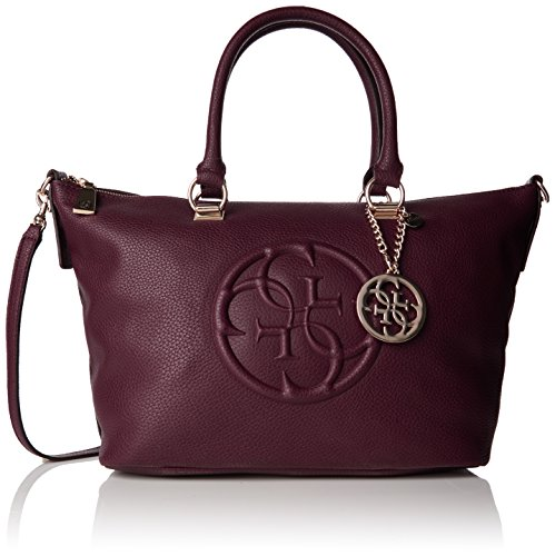 guess-womens-korry-crush-satchel-handbag-red-bordeaux-one-size
