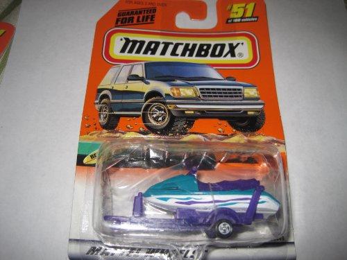 Matchbox Watercraft With Trailer #51 - 1