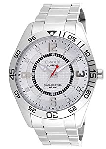 OMAX Men's Stainless Steel Watch Silver - SS216
