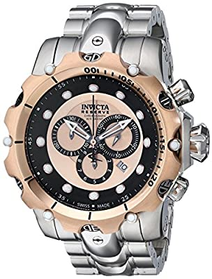Invicta Men's 14401 Venom Analog Display Swiss Quartz Silver Watch