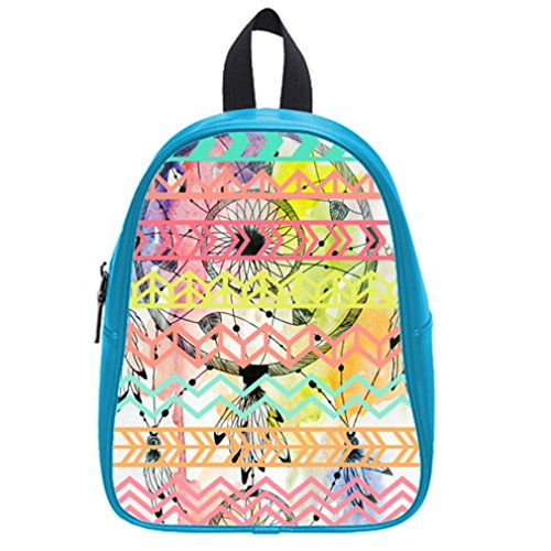 Fashion Funny Dream Catcher Aztec Tribal Hot Pink Kid'S School Bag & Backpack For Kids Blue front-929059