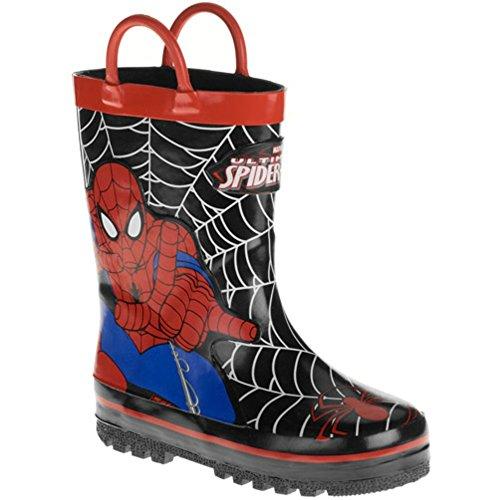 Marvel Spider-Man Boy's Pull-up Rainboot (Toddler Little Kid) (2/3)
