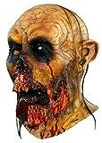 Hombre Deluxe Zombie horripilante máscara de lengua