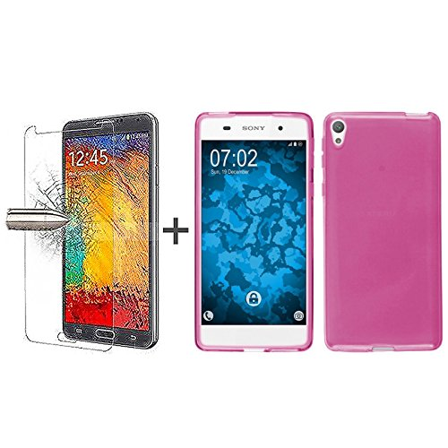 tbocr-pack-coque-gel-tpu-rose-protecteur-decran-en-verre-trempe-pour-sony-xperia-e5-f3311-f3313-sili