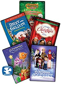 The Kids Christmas Dvd Collection 5 Childrens Christian Dvd Movies Includes A Pahappahoooey Christmas Davey Goliaths Snowboard Christmas Kingdom Under The Sea - The Gift The Stars Of Christmas And A Christmas Journey Dvbox10