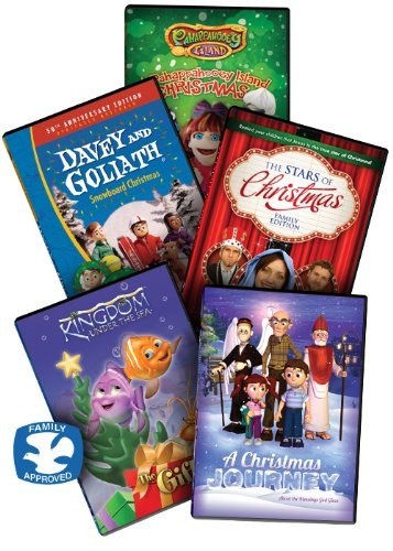 The Kids Christmas DVD Collection, 5 Children's Christian DVD Movies includes: (A Pahappahoooey Christmas / Davey & Goliath's Snowboard Christmas / Kingdom Under The Sea - The Gift / The Stars of Christmas / and A Christmas Journey) DVBOX10