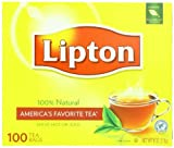 Lipton Tea Bags, Cup Size 100Count,  8 Ounce Box