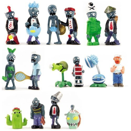 16 X Plants Vs Zombies Toys Series Game Role Figure Display Toy PVC Gargantuar Craze Dave Dr. Zomboss - 1