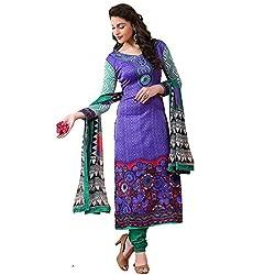Rozdeal Women Georgette Salwar Suit Dress Material (Rda104-2003 _Purple _Free Size)