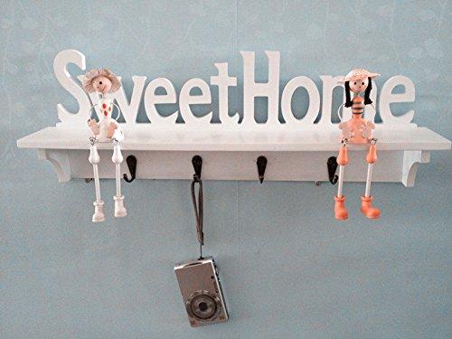 Casa estilo europeo moda sweethome lana r stica decoraci n for Perchas para colgar llaves