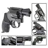タナカ S&W(スミス&ウェッソン) M37エアーウエイト Ver.2 2インチ ヘビーウェイト ラバーグリップモデル J-Police(日本警察仕様) 38口径回転式拳銃 ガスガン・ガスリボルバー 対象年令18才以上(18歳以上)【付属品:LEDダイナモライト・ガンキーホルダー】