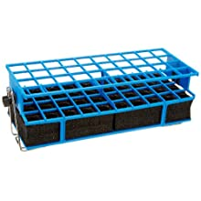 "Barnstead Blue Full Size Test Tube Rack Clamp, 21mm to 25mm, 4"" x 10"" Array"