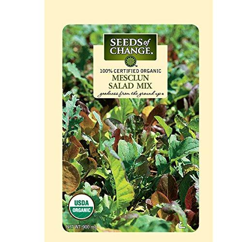Seeds of Change Certified Organic Salad Mix, Mesclun - 900 milligrams, 500 Seeds Pack