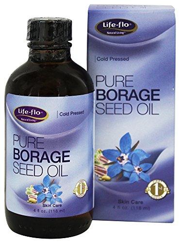 Pure Borage Seed Oil Life Flo Health Products 4 oz Liquid