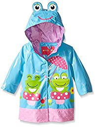 Wippette Baby Frog with Polka Dot Rainwear, Blue Fish, 24 Months