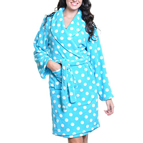 Angelina Premium Micro-Fleece Bathrobes  91159 Bubble Bath S M e7d5002eb
