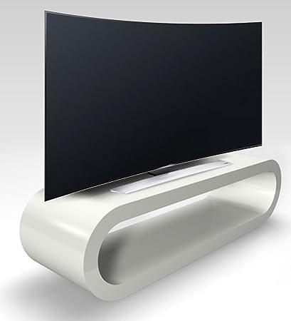 Retro-Stil Hoop Großen Hellgrau Hochglanz-Tv-Ständer / Schrank 110cm