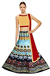 Fashion Galleria Women's Designer Digital Printed Lahenga-Choli