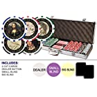 Da Vinci Masterworks Poker Chip Set w/500 Chips w/ Denominations, 2 Decks of Cards, & 5 Poker Dice
