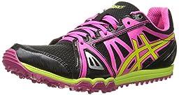 ASICS Women\'s Hyper Rocketgirl XCS Spike Shoe, Black/Hot Pink/Flash Yellow, 10 M US