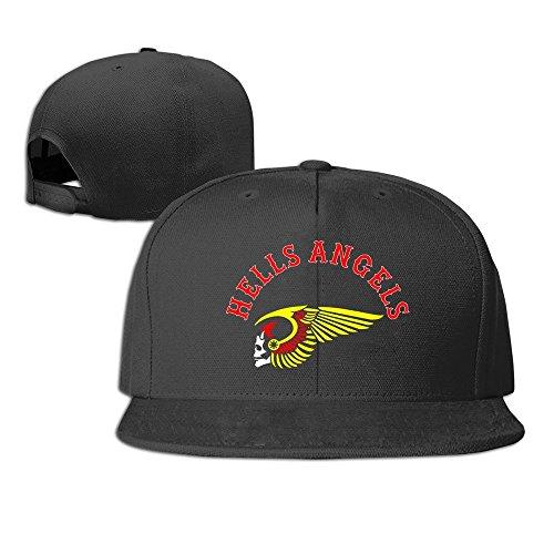 fitty-area-hells-angels-motorcycle-club-flat-baseball-hat-brim-caps-black