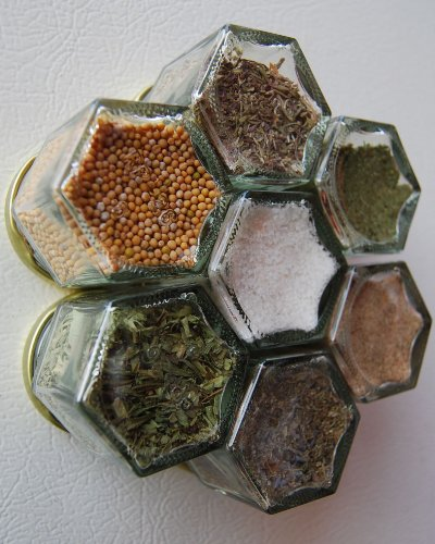 FRENCH Spice Kit. Set of 7 Magnetic Spice Jars