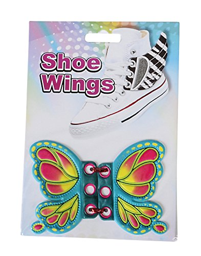 Green Butterfly Shoe Wings Shwings Lace Boot Sneaker Costume Accessory
