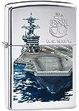 Zippo Pocket Lighter Zippo US Navy Ship High Polish Pocket Lighter, Chrome