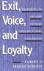 Exit, Voice, and Loyalty
