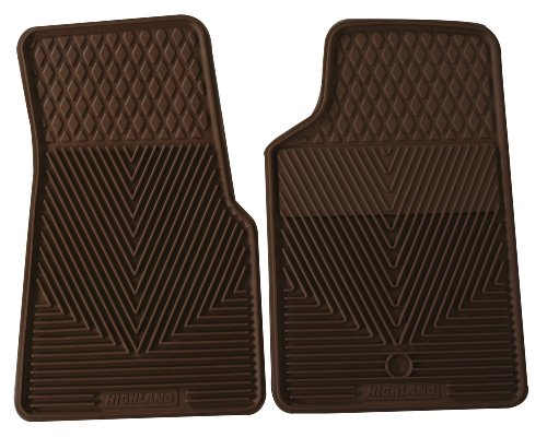 Highland 4403500 All-Weather Tan Front Seat Floor Mat front-68712