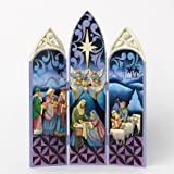 Jim Shore for Enesco Heartwood Creek Nativity Triptych Figurine, 12-Inch