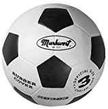 Markwort Youth Size-3 Soccer Balls, White/Black