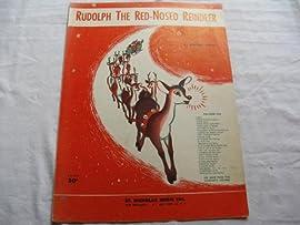 RUDOLPH THE RED NOSED REINDEER 1949 SHEET MUSIC FOLDER 402 SHEET MUSIC